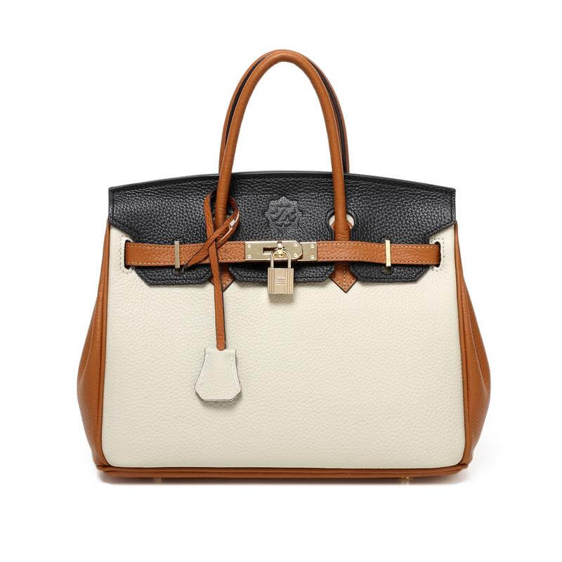 black-beige-brown-handbag
